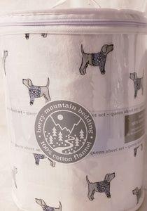 New Queen Flannel Doggie Sheet Set